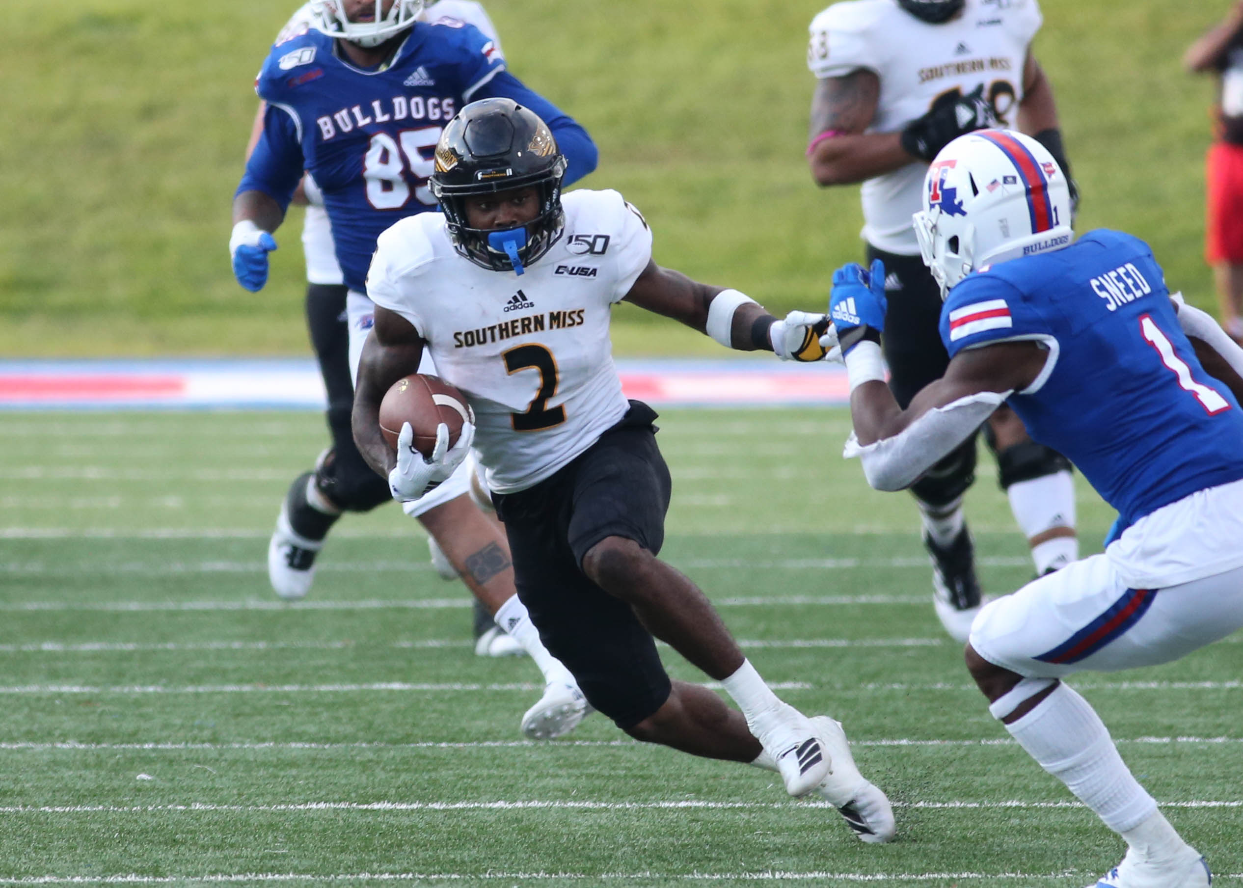 Louisiana Tech Outlasts Southern Miss 45 30 Southern Miss
